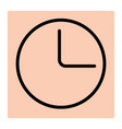 clock line icon for logistic company vector image vector image