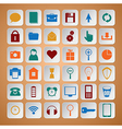 Color icons set vector image vector image
