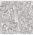 coloring page seamless feather pattern for textile vector image vector image