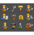 Construction remodeling work isometric icons set vector image vector image