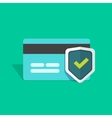 Credit card protection icon secure payment sign vector image vector image