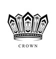 crown logo abstract design template vector image vector image