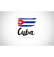 cuba country flag concept with grunge design icon vector image