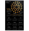 design calendar for 2019 simple golden ornaments vector image