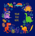 dinosaurs background vector image