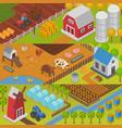 farm agriculture landscape farming house vector image