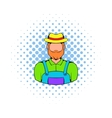 Farmer icon in comics style vector image vector image