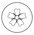 flower sakura icon black color in circle round vector image vector image