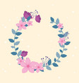 flowers wedding wreath flourish leaves foliage vector image