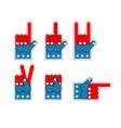 foam finger usa patriot american sports symbol vector image vector image
