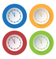 four round color icons last minute clock vector image vector image