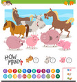 game of counting animals vector image vector image
