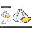 garlic line icon vector image