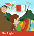 Geologist occupation vector image vector image