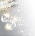 glowing christmas vector image