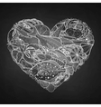 graphic seafood in shape heart vector image vector image