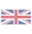 great britain flag mosaic of wine bottle items vector image vector image
