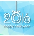 Happy New Year 2016 Creative Green Triangle vector image vector image