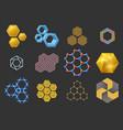 Hexagon design geometric elements honeycombs