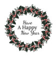 holiday greeting card with happy new year words vector image