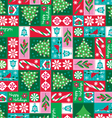 holiday patchwork vector image vector image