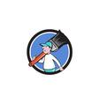 House Painter Paintbrush Walking Circle Cartoon vector image vector image