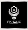 house repair logo vector image vector image
