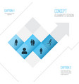 human icons set collection of running beloveds vector image vector image
