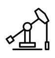 icon of rocking machine oil drill fuel vector image