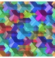 Isometric cubes seamlessly repeatable pattern 3D vector image