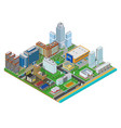 isometric urban city real estate background vector image vector image