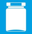 jar icon white vector image