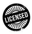 Licensed stamp rubber grunge vector image vector image