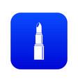 lipstick icon digital blue vector image vector image