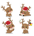 little deer in christmas day vector image vector image