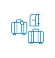 luggage linear icon concept luggage line vector image vector image