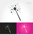 magic wand with magic sparkle vector image