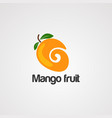 mango fruit logo icon element and template vector image vector image