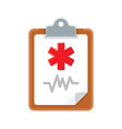 medical clipboard icon vector image vector image