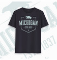michigan state graphic t-shirt design typography vector image vector image