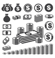 Money and coin icon set eps10