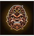 monkey king head mascot logo vector image