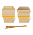 noodle boxes vector image vector image