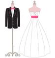 Pastel Wedding Dress Mannequin vector image