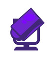 purple colored searchlight vector image vector image
