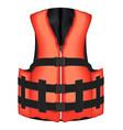 real orange life vest jacket vector image