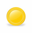realistic gold coin 3d vector image vector image
