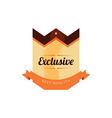 retro premium badge label vector image