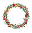 Round Christmas wreath with fir branches vector image vector image