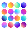 rounded holographic gradient sphere button vector image vector image